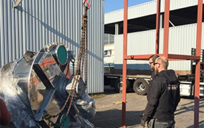 3000L Vertical Ribbon Mixer for Malacat in Spain